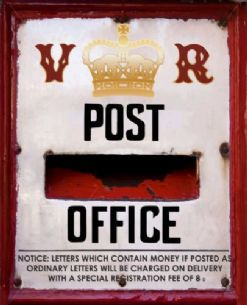 Post Office Letter Box Metal Sign Wall Plaque 15X20cm Vintage Style Artwork